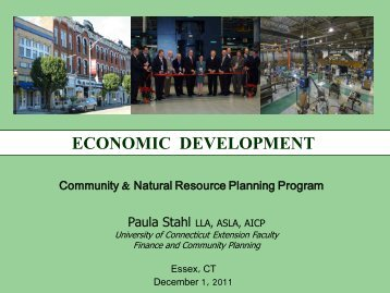 ECONOMIC DEVELOPMENT - The Green Valley Institute