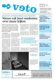 Nieuw vak leert studenten over muur kijken - archief van Veto