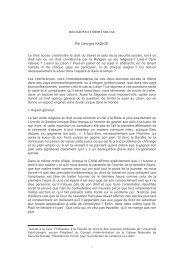 Religions et droit social - cedroma - Université Saint-Joseph