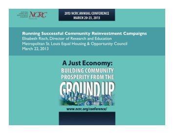 Elisabeth Risch - National Community Reinvestment Coalition