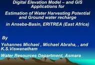 WORKSHOP ON Water Harvesting and ... - Igcp-grownet.org