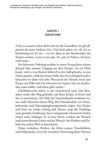 Leseprobe aus: Basisbuch Schüßler-Salze von ... - PranaHaus