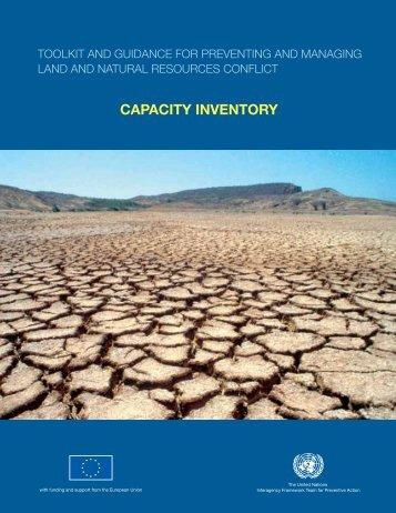 CAPACITY INVENTORY