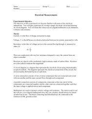 Lab 1: Electrical Measurements