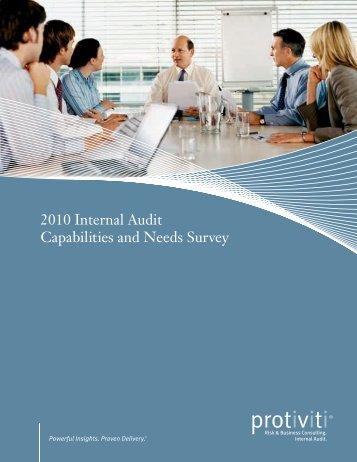 2010 Internal Audit Capabilities and Needs Survey - Protiviti