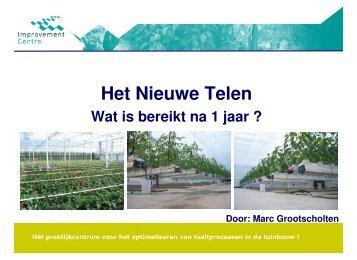 Marc Grootscholten - Het Nieuwe Telen bij groenten - Energiek2020