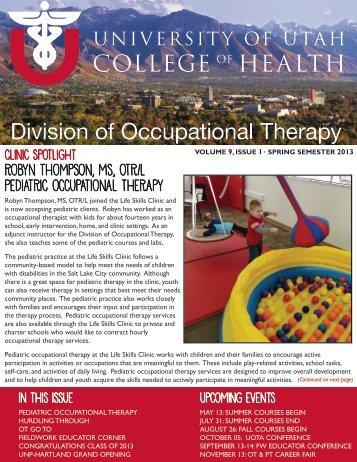 Newsletter Spring 2013 - College of Health - University of Utah