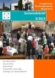 Ausgabe 2013-3 - Evangelische Kirchengemeinde Neubeckum