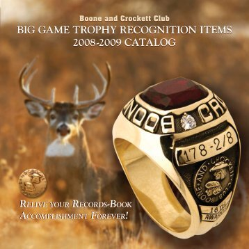 BIG GAME TROPHY RECOGNITION ITEMS 2008-2009 CATALOG ...