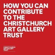Download the Trust Booklet - Christchurch Art Gallery