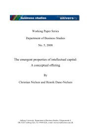 The emergent properties of intellectual capital: A conceptual offering