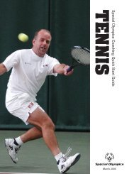 Tennis Quick Start Guide - Special Olympics