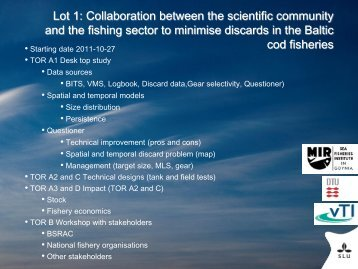 Hans Nilsson: the Lot 1 project - Baltic Sea RAC