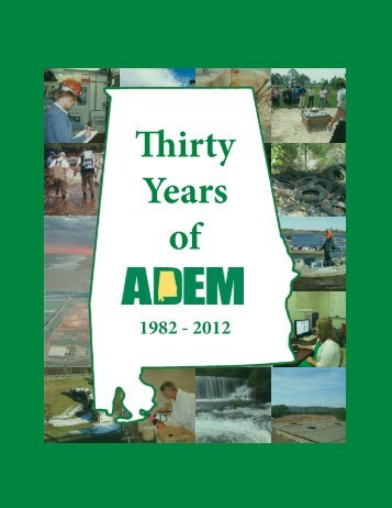 30 Years of ADEM - Alabama Department of Environmental ...