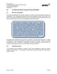 4.0 Alternative Design Concepts and Assessment - City of Brantford