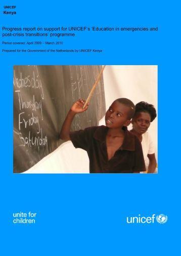 Kenya Progress Report 2009