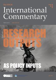 Research Output as Policy Input - ITPCM - Scuola Superiore Sant ...