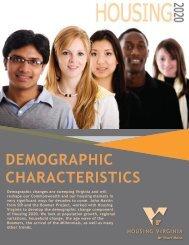 Housing Virginia 2020 - Demographics Characteristics