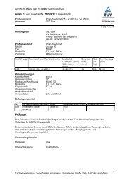 GUTACHTEN zur ABE Nr. 48067 nach §22 StVZO Anlage 17 zum ...