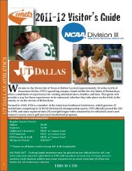 UTD VISITOR'S GUIDE (pdf) - University of Texas at Dallas