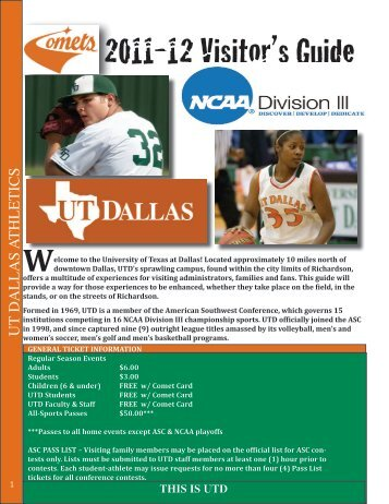 UTD VISITOR'S GUIDE (pdf) - University of Texas at Dallas