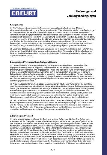 Lieferungs Und Zahlungsbedingungen Md Abdichtungstechnik