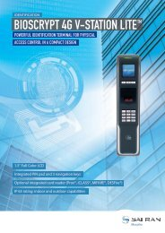 BIOSCRYPT 4G V-STATION LITE TM - Morpho