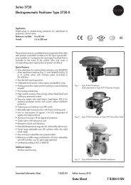 Series 3730 Electropneumatic Positioner Type 3730-0 Data ... - ii