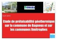 Étude géothermie - Bagneux