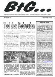 BtG - GeBeN - Gesetzliche ehrenamtliche BetreuerInnen in Nürnberg