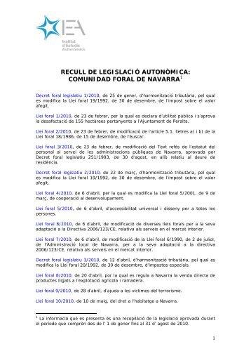 Decreto Foral Legislativo 1/2010, de 25 de enero, de Armonización ...