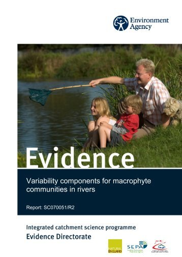 Variability components for macrophyte communities in rivers