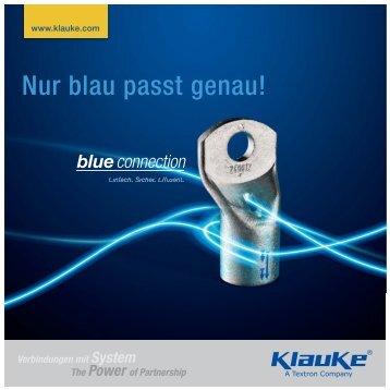 Nur blau passt genau! - Gustav Klauke GmbH
