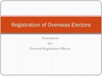 Registration of Overseas Electors - Chief Electoral Officer, Madhya ...