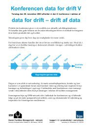 konferencen data for drift - Dansk Facilities Management