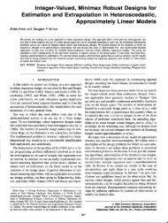 Integer-Valued, Minimax Robust Designs for ... - University of Alberta