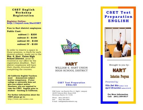 English - Hart BTSA - William S  Hart Union High School District
