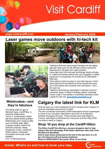 Laser games move outdoors with hi-tech kit - Visit Cardiff