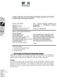 1. Tour de table sur le thème de l'information routière Compte rendu ...