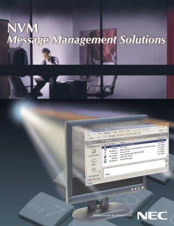 NVM-Message Management - Comtech Inc.