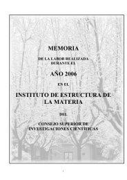 2006 - Instituto de Estructura de la Materia - Consejo Superior de ...