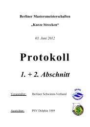 Protokoll - Masters in Berlin