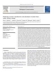 Predicting survival, reproduction and abundance of polar bears ...