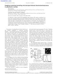 Imaging scanning tunneling microscope-induced ...