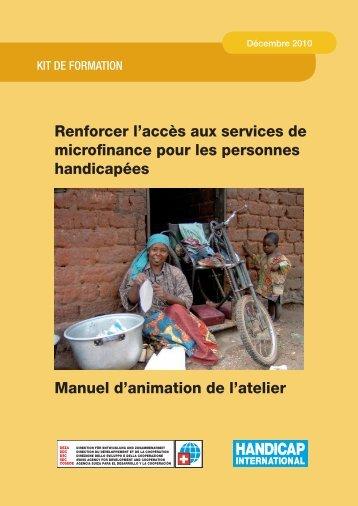 Renforcer l'accès aux services de microfinance pour les personnes ...