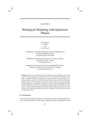Biological Modeling with Quiescent Phases - University of Alberta