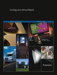 Corning 2007 Annual Report