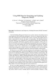 Using BIM Data for Generating and Updating Diagnostic Models