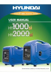 HY2000si Manual - Hyundai Power Equipment