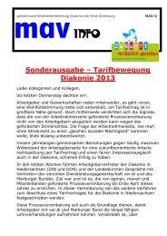 1 Sonderinfo-Tarifbewegung-2013 - Diakonie im Oldenburger Land